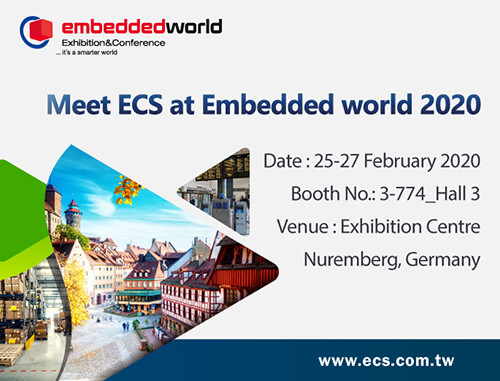 Meet ECS at Embedded World 2020